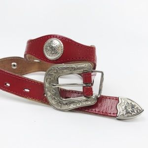 Vintage Dundee Leather Embellished Belt Western